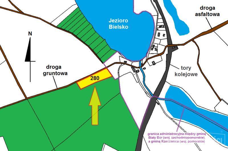 mapka działki i okolicy